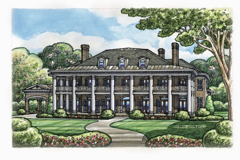 Southern Exterior - Front Elevation Plan #20-2173 - Houseplans.com