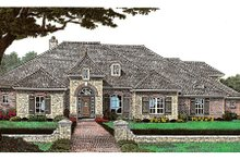 Dream House Plan - European Exterior - Front Elevation Plan #310-648