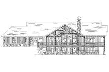 House Plan Design - Craftsman Exterior - Rear Elevation Plan #5-147