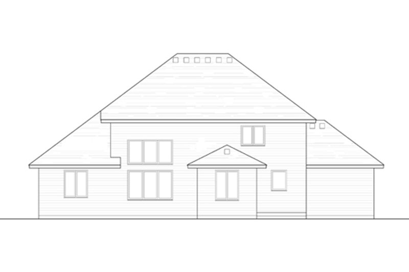Traditional Exterior - Rear Elevation Plan #51-406 - Houseplans.com