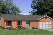 Ranch Style House Plan - 3 Beds 2 Baths 1250 Sq/Ft Plan #116-165 Exterior - Front Elevation