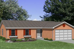 Ranch Exterior - Front Elevation Plan #116-165