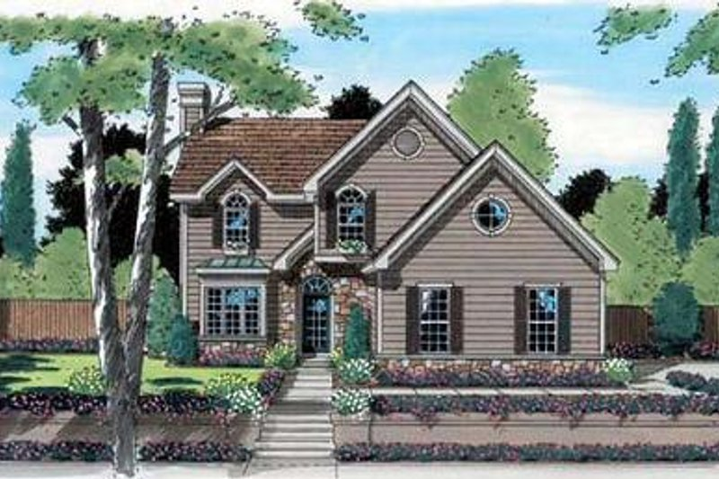 Modern Style House Plan - 3 Beds 2.5 Baths 1817 Sq/Ft Plan #312-609 Exterior - Front Elevation