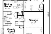 Traditional Style House Plan - 4 Beds 3.5 Baths 2338 Sq/Ft Plan #20-2441 Floor Plan - Main Floor