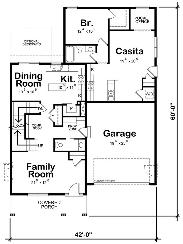 House Blueprint - Traditional Floor Plan - Main Floor Plan #20-2441