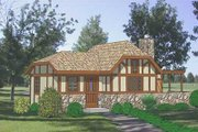 Tudor Style House Plan - 1 Beds 1 Baths 484 Sq/Ft Plan #116-222 Exterior - Front Elevation