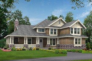 Craftsman Exterior - Front Elevation Plan #132-186
