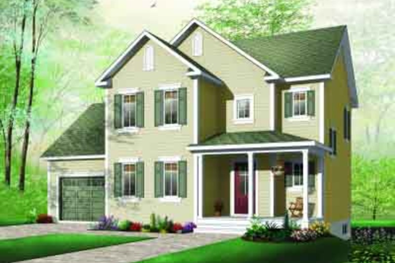 Country Exterior - Front Elevation Plan #23-581