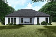 Traditional Style House Plan - 3 Beds 2 Baths 1775 Sq/Ft Plan #923-145 Exterior - Rear Elevation