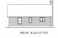 Cottage Exterior - Rear Elevation Plan #22-119