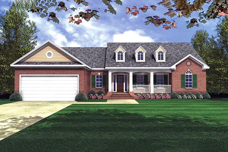 Dream House Plan - Traditional Exterior - Front Elevation Plan #21-153