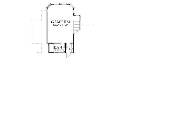 House Plan Design - European Floor Plan - Upper Floor Plan #80-200
