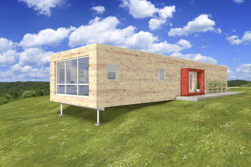 House Blueprint - Modern design, Front elevation