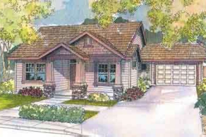 Craftsman Exterior - Front Elevation Plan #124-496