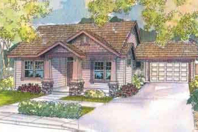 Dream House Plan - Craftsman Exterior - Front Elevation Plan #124-496
