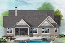 House Plan Design - Craftsman Exterior - Rear Elevation Plan #929-1127