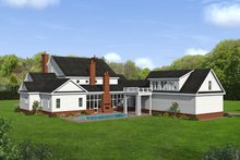 House Design - Country Exterior - Rear Elevation Plan #932-366