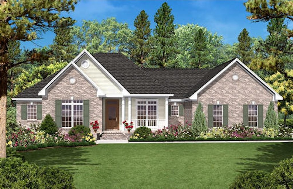 Ranch style house plan 3 beds 2 baths 1600 sq ft plan for Rambler house vs ranch house