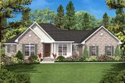 Ranch Style House Plan - 3 Beds 2 Baths 1600 Sq/Ft Plan #430-17 Exterior - Front Elevation