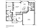 European Style House Plan - 3 Beds 2.5 Baths 3117 Sq/Ft Plan #320-483 Floor Plan - Main Floor Plan