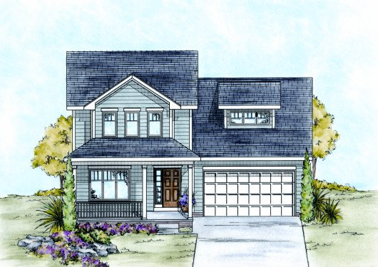 Traditional Exterior - Front Elevation Plan #20-2104 - Houseplans.com
