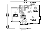 Traditional Style House Plan - 3 Beds 1 Baths 1649 Sq/Ft Plan #25-4696 Floor Plan - Main Floor Plan
