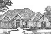 European Style House Plan - 3 Beds 2.5 Baths 2128 Sq/Ft Plan #310-407 Exterior - Front Elevation