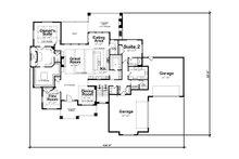 Craftsman Floor Plan - Main Floor Plan Plan #20-2338