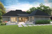 Cottage Style House Plan - 4 Beds 2.5 Baths 2298 Sq/Ft Plan #406-9654 Exterior - Rear Elevation