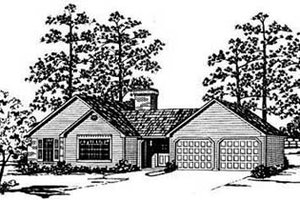 Traditional Exterior - Front Elevation Plan #36-117