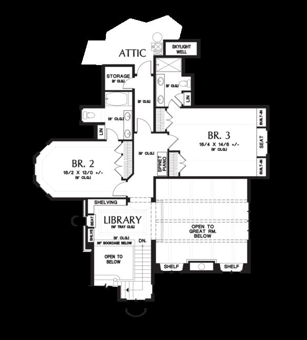 Home Plan - European Floor Plan - Upper Floor Plan #48-625