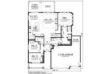 Ranch Floor Plan - Main Floor Plan Plan #70-1485