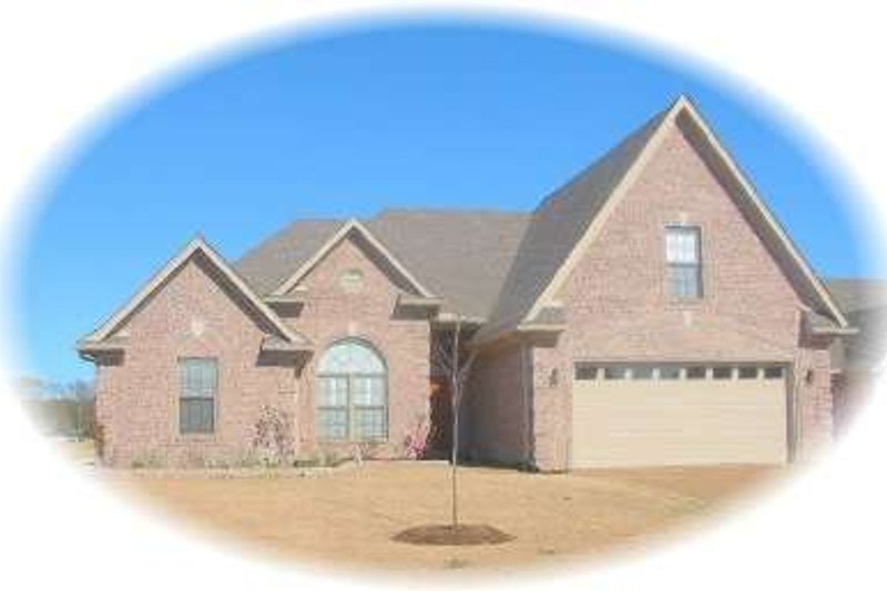 European Style House Plan - 3 Beds 2 Baths 2319 Sq/Ft Plan #81-1510 Exterior - Front Elevation