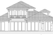Beach Style House Plan - 4 Beds 3.5 Baths 4436 Sq/Ft Plan #27-498 Exterior - Rear Elevation