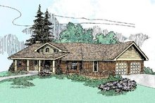 House Design - Country Exterior - Front Elevation Plan #60-226