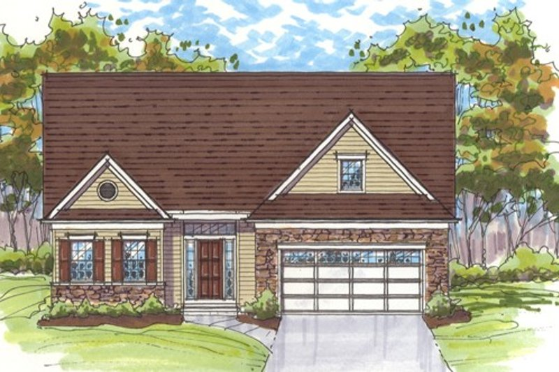 Country Exterior - Front Elevation Plan #435-5 - Houseplans.com