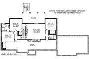 Ranch Style House Plan - 4 Beds 4 Baths 2609 Sq/Ft Plan #70-1501 Floor Plan - Lower Floor Plan
