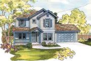 Traditional Style House Plan - 4 Beds 2.5 Baths 2279 Sq/Ft Plan #124-511 Exterior - Front Elevation
