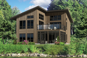 Contemporary Style House Plan - 3 Beds 2 Baths 1536 Sq/Ft Plan #25-4365 Exterior - Front Elevation