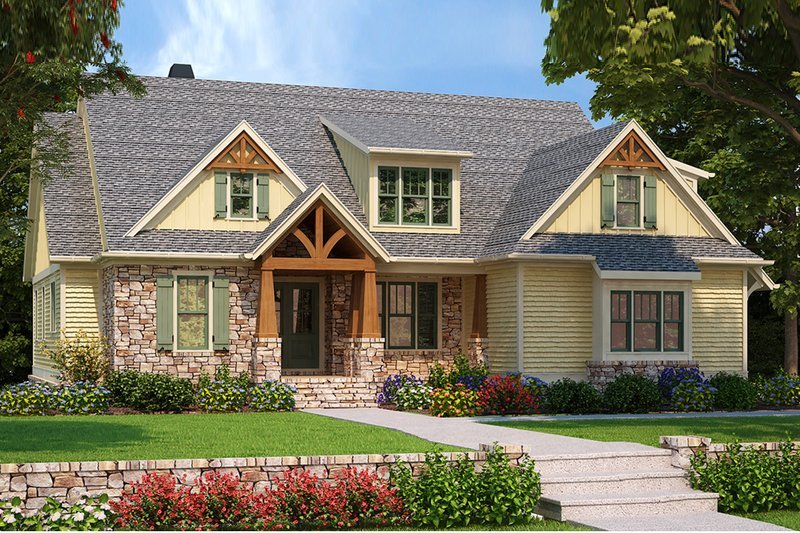 Craftsman Exterior - Front Elevation Plan #927-983 - Houseplans.com
