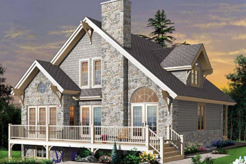 Cottage Exterior - Front Elevation Plan #23-760 - Houseplans.com