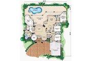 Mediterranean Style House Plan - 4 Beds 4.5 Baths 3650 Sq/Ft Plan #27-229 Floor Plan - Main Floor Plan