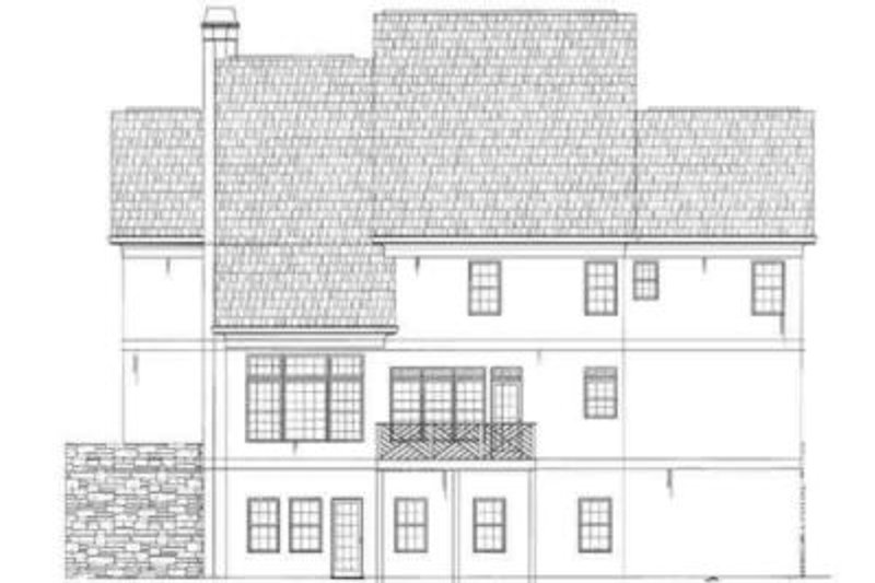 European Exterior - Rear Elevation Plan #119-138 - Houseplans.com