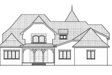 European Exterior - Rear Elevation Plan #413-835