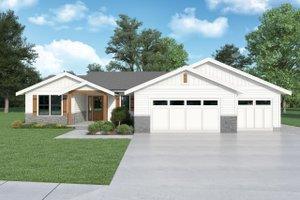Dream House Plan - Craftsman Exterior - Front Elevation Plan #1070-143