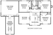Country Style House Plan - 5 Beds 2.5 Baths 2599 Sq/Ft Plan #11-231 Floor Plan - Upper Floor Plan