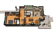 Craftsman Style House Plan - 2 Beds 2 Baths 1600 Sq/Ft Plan #454-13 Floor Plan - Other Floor