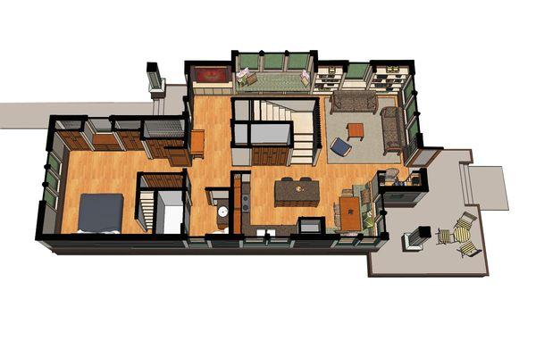 Craftsman Floor Plan - Other Floor Plan Plan #454-13