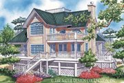 Country Style House Plan - 3 Beds 2 Baths 1886 Sq/Ft Plan #930-48 Exterior - Rear Elevation