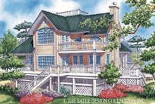 Home Plan - Country Exterior - Rear Elevation Plan #930-48